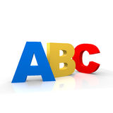 Alphabet. Abc chars in different colors Royalty Free Stock Photography