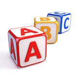 Alphabet ABC cubes. On white Royalty Free Stock Photos