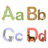 Alphabet ABCD Royalty Free Stock Image