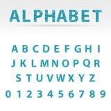 Alphabet abstrait de vecteur Photographie stock libre de droits