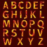 Alphabet abstrait de vecteur Photos stock