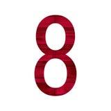 Alphabet acht der Nr. 8 Stockfotografie