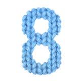 Alphabet acht der Nr. 8, färben Blau Lizenzfreie Stockbilder