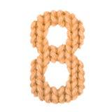 Alphabet acht der Nr. 8, färben Orange Stockfotografie