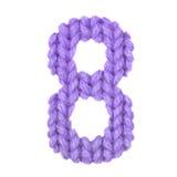 Alphabet acht der Nr. 8, färben Purpur Lizenzfreie Stockbilder