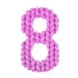Alphabet acht der Nr. 8, färben Rosa Stockfotografie