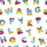 Alphabet alphabetic signs for children to learn vector Stock Images