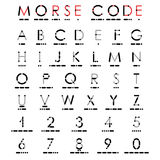 Alphabet And Numerals In Morse Code. Stock Images