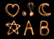 Alphabet anglais image libre de droits