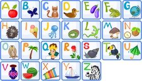 Alphabet anglais Photographie stock libre de droits