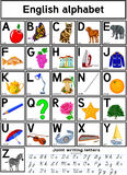 Alphabet anglais Photo stock