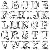 Alphabet anglais ABC Les lettres anglaises sont noires sur le blanc L'alphabet latin illustration de vecteur