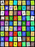Alphabet anglais au-dessus de noir Photos stock