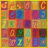 Alphabet anglais d'arc-en-ciel pour des enfants Images stock