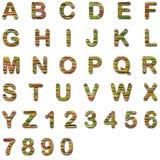 Alphabet anglais d'isolement sur le blanc Photographie stock libre de droits