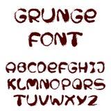 Alphabet anglais dans le style grunge Photographie stock libre de droits