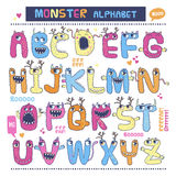 Alphabet anglais de monstre Images stock