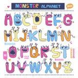 Alphabet anglais de monstre Images stock