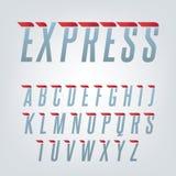 Alphabet anglais de vitesse exprès Photographie stock