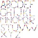 Alphabet anglais fait de fil de couture de bobine Photographie stock libre de droits