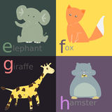 Alphabet animal Images libres de droits