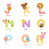 Alphabet Animal J-R Stock Images