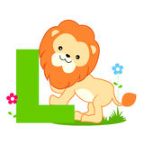 alphabet animal l letter Royaltyfri Foto