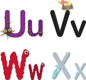 Alphabet UVWX Stock Photos