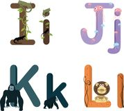 Alphabet IJKL Stock Photo