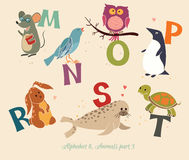 Alphabet&Animals, part3 illustration libre de droits