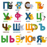 Alphabet animals russian part 2 Stock Images