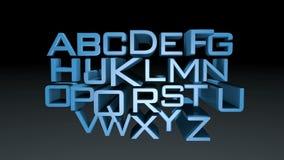 Alphabet animation stock video footage
