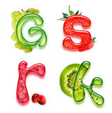 Alphabet appétissant 3 Image libre de droits