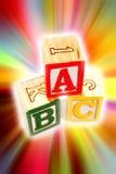 Alphabet apprenant des blocs Photos libres de droits