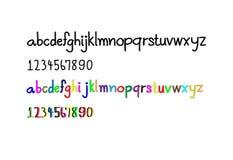 Alphabet and Arabic numerals stock illustration