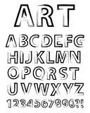 Alphabet artistique Photo stock