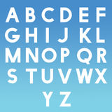 Alphabet AtoZ letters ABC for children learning with blue background Stock Photos