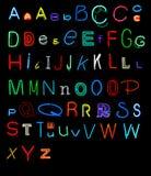 Alphabet au néon Photographie stock libre de droits