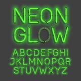 Alphabet au néon de lueur Photo libre de droits