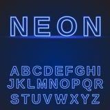Alphabet au néon rougeoyer de fonte Image stock