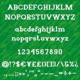 Alphabet audacieux d'empattement de dalle image libre de droits