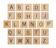 Alphabet auf Holz Lizenzfreies Stockfoto