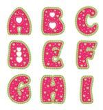 Alphabet avec des coeurs Image libre de droits
