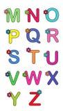 Alphabet avec la fleur 2 Photos libres de droits