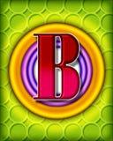 alphabet b circular διανυσματική απεικόνιση