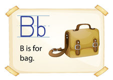 Alphabet B Stock Image