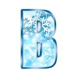 alphabet b number winter διανυσματική απεικόνιση