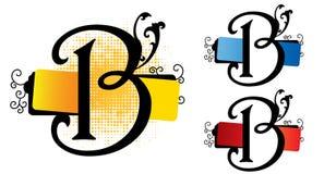 Alphabet b vector Royalty Free Stock Photos
