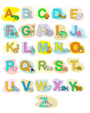 Alphabet baby animals ABC children color poster. Isolated Royalty Free Stock Image