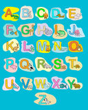 Alphabet baby animals ABC children color poster. Isolated Stock Images